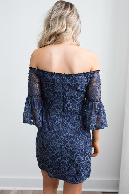 BB Dakota Danlyn Lace Dress - Navy - FINAL SALE
