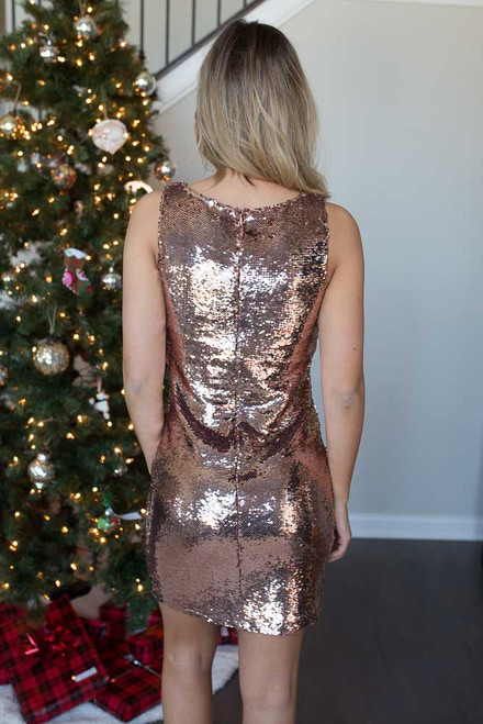 BB Dakota Garland Sequin Dress - Rose Gold - FINAL SALE