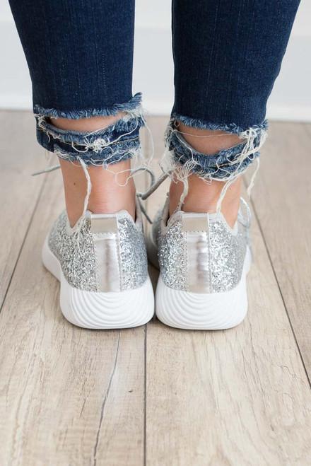 Glitter Sneakers - Silver  - FINAL SALE