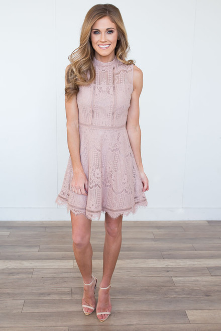 BB Dakota Reese Lace Dress - Champagne - FINAL SALE