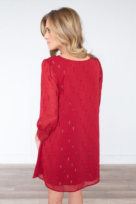 BB Dakota Dayna Shift Dress - Lipstick Red - FINAL SALE