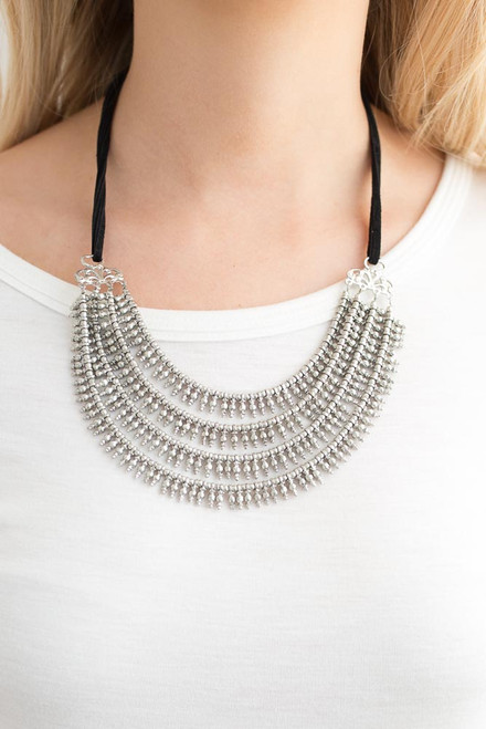 Crusader Layered Necklace - Silver - FINAL SALE