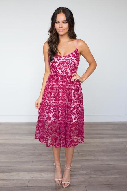 BB Dakota Candler Dress - Cranberry