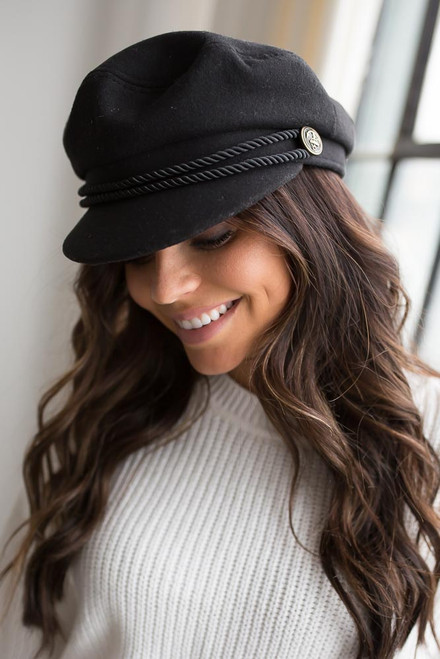 Braided Lieutenant Hat - Black  - FINAL SALE