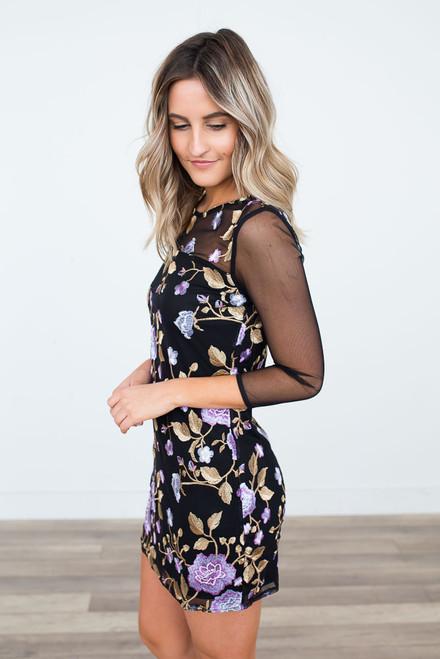 Jack by BB Dakota Jaelyn Embroidered Dress - Black Multi