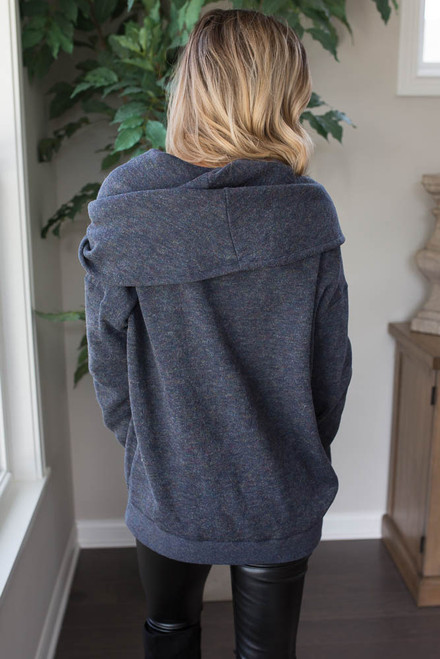 Cowl Neck Sweater - Navy Multi - FINAL SALE