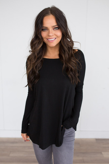 Solid Knit Piko - Black