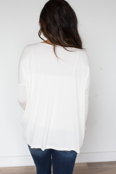 Solid Knit Piko - Ivory