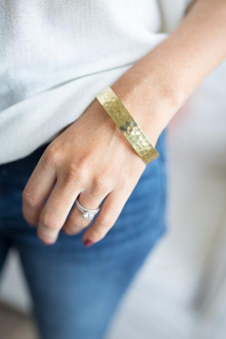 Textured Bangle Bracelet - Gold - FINAL SALE