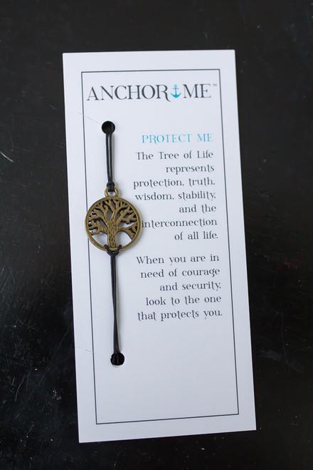 Anchor Me Tree of Life Bracelet - Bronze/Black - FINAL SALE