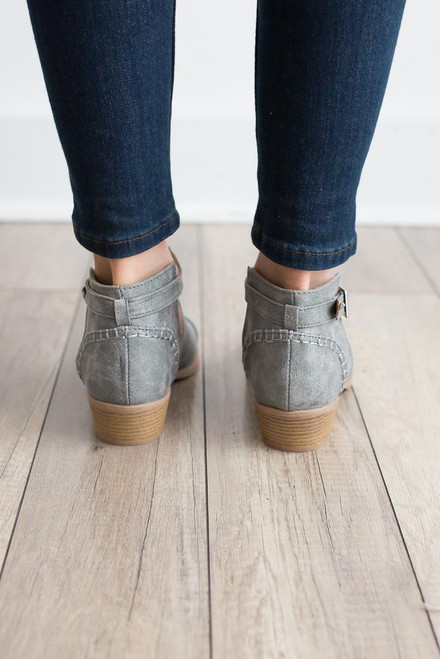 Founder's Day Cutout Booties - Grey