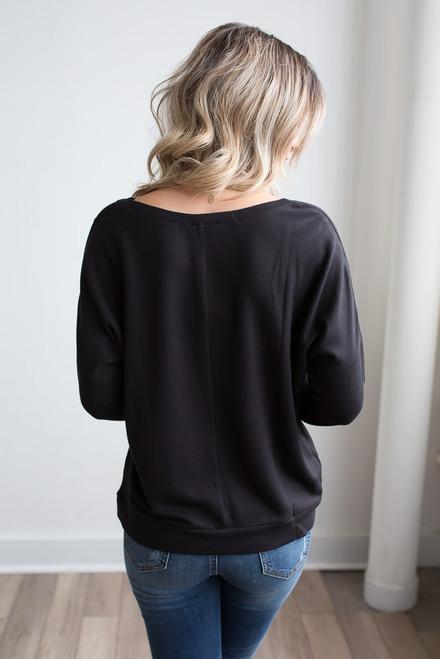 On the Run Pullover - Black