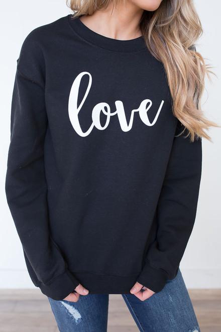 Love Sweatshirt - Black