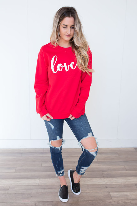 Love Sweatshirt - Red