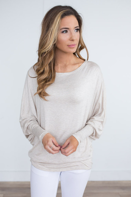 Harlow Dolman Knit Top - Oatmeal -  FINAL SALE