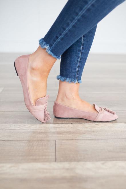 Dreaming of Paris Tassel Loafers - Dusty Rose - FINAL SALE
