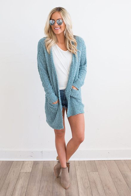 Wubby Pocket Cardigan - Ocean Wave