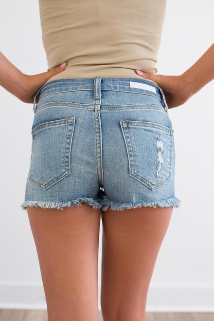 Sweet Home Alabama Distressed Shorts - Medium Wash - FINAL SALE