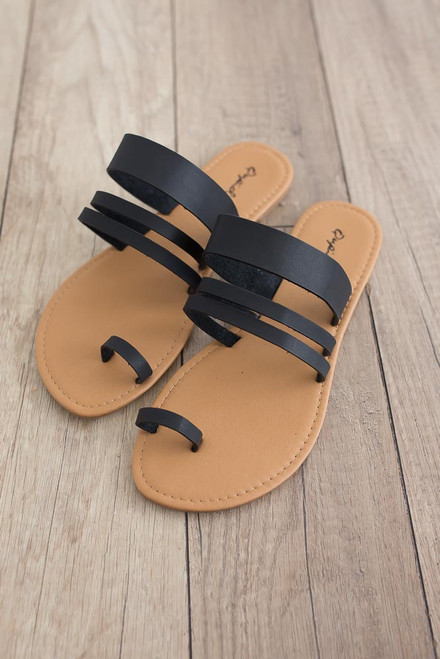 Southern California Strappy Sandals - Black