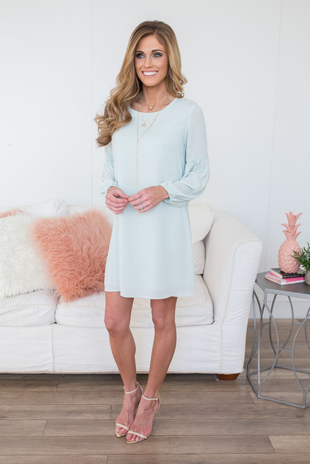 Everly Spring Soiree Shift Dress - Pale Mint