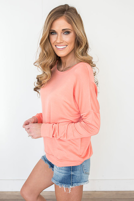 On the Run Pullover - Peach