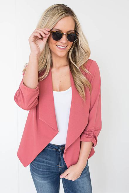 Sweet On You Blazer - Strawberry Pink