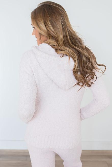 Berber Fleece Zip Up Jacket - Pearl Pink