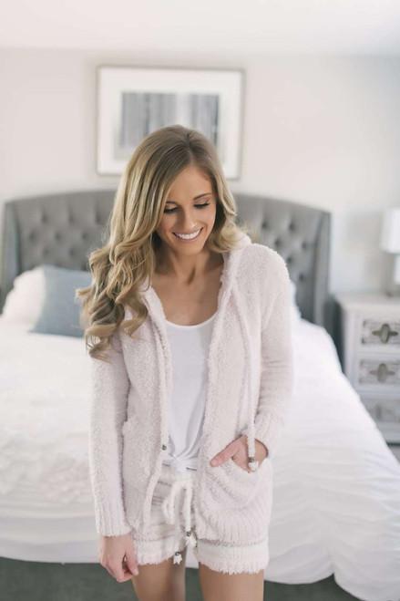 Berber Fleece Zip Up Jacket - Pearl Pink - FINAL SALE