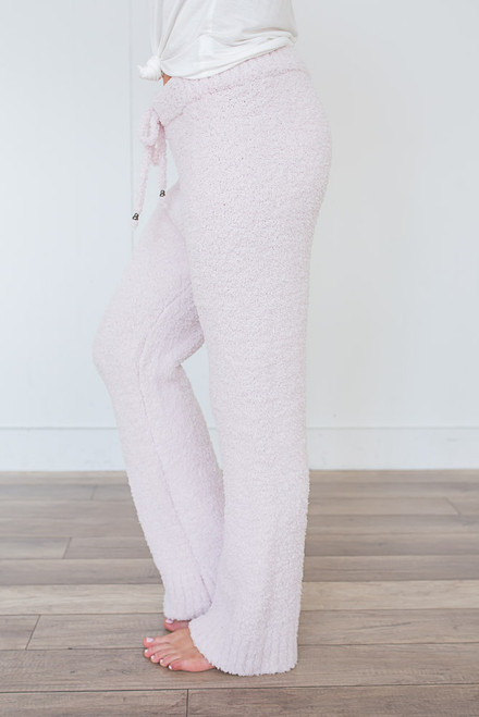 Berber Fleece Lounge Pants - Pearl Pink