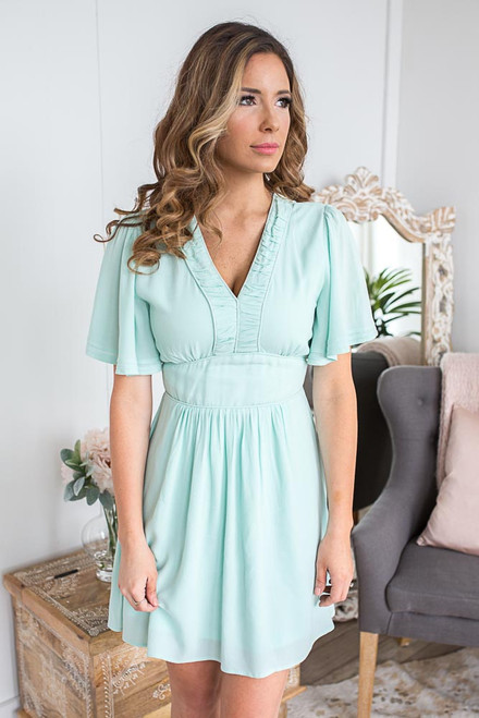 Short Sleeve Spring Belle Dress - Mint