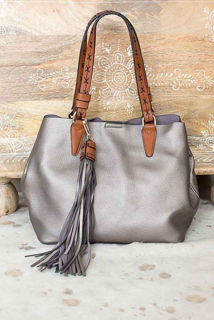Chelsea Market Tassel Handbag - Sunkissed Bronze