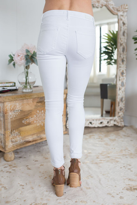 East Hampton Skinny Jeans - White