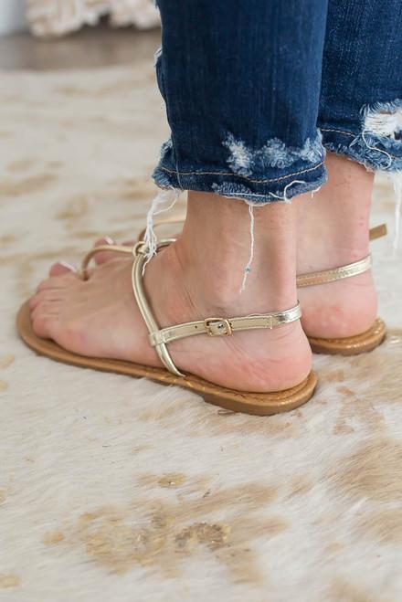 Newport Beach Thong Sandals - Gold - FINAL SALE