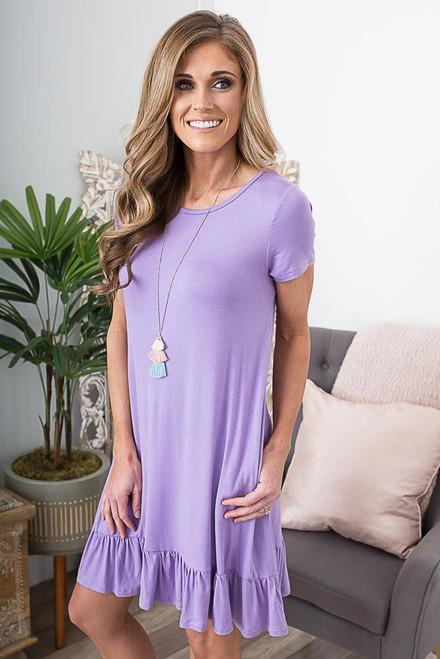 Beachy Keen Knit Dress - Lavender Breeze