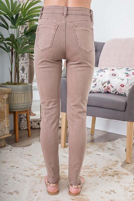 Coastal Haven Skinny Jeans - Light Cocoa