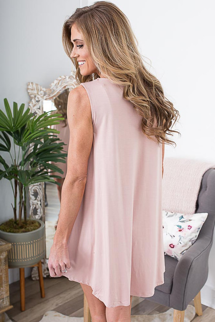 Backstage Pass Knit Dress - Blush