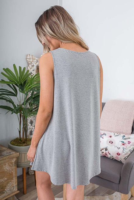 Backstage Pass Knit Dress - Heather Grey