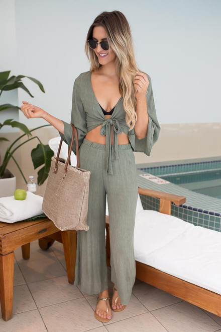 Mainland Adventure Cover Up Set - Olive