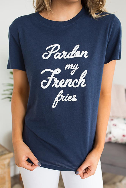 Sub_Urban Riot Pardon My French Fries Tee - Navy  - FINAL SALE