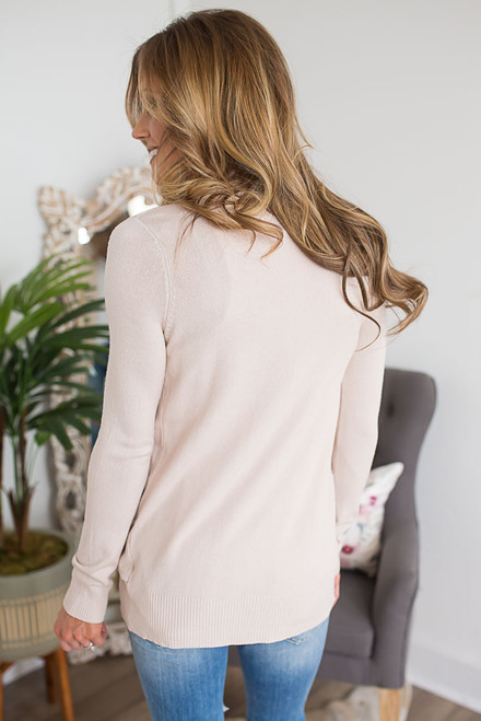 Down By the Bay Knit Cardigan - Beige