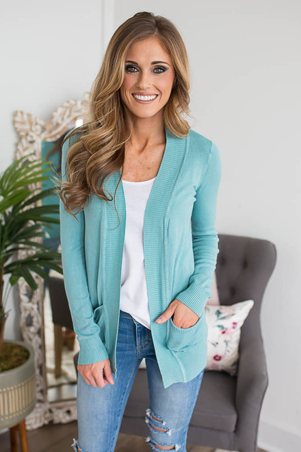 Down By the Bay Knit Cardigan - Ocean Wave