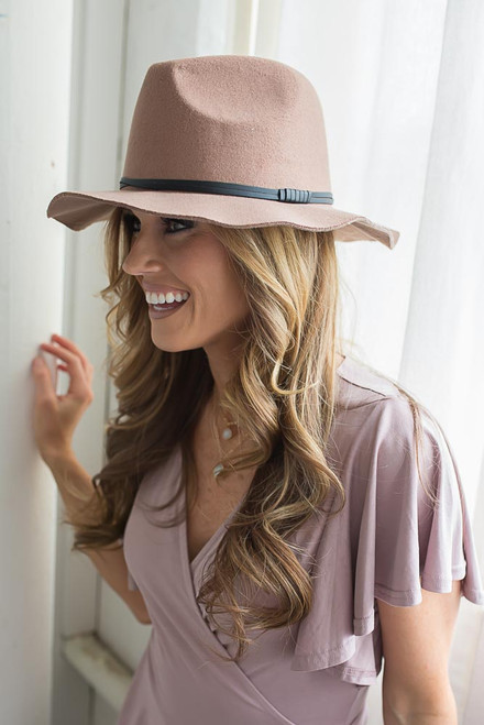 East Village Banded Panama Hat - Tan