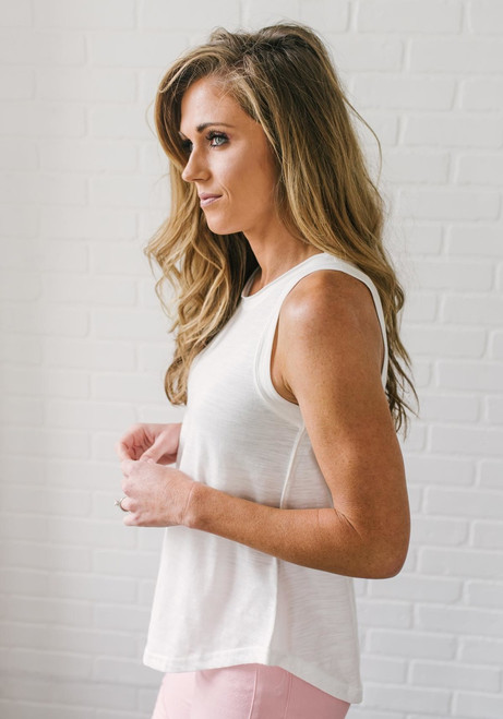 High Tides Tank Top - Off White