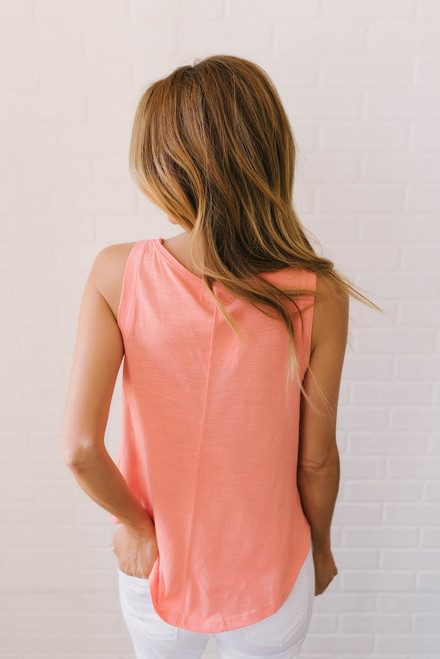 High Tides Tank Top - Paradise Coral