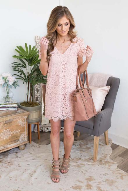BB Dakota Trista Lace Dress - Pink Lemonade - FINAL SALE