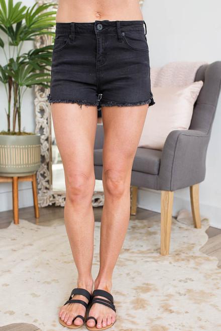 Midnight Magic Frayed Shorts - Black - FINAL SALE