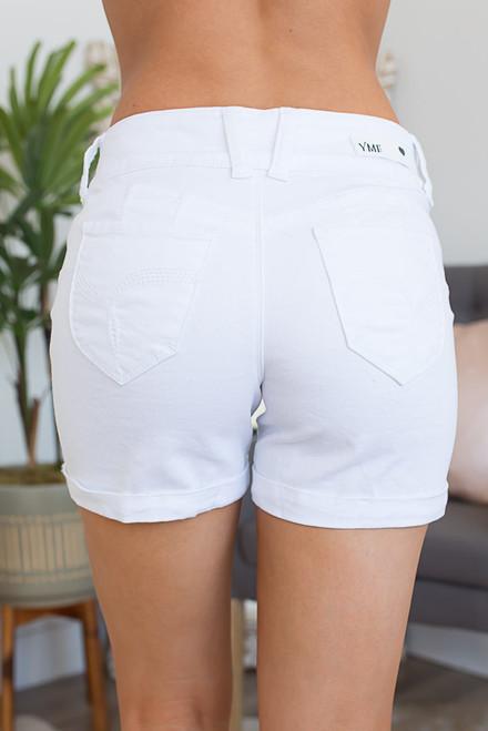 Soak Up the Sun Cuffed Shorts - White
