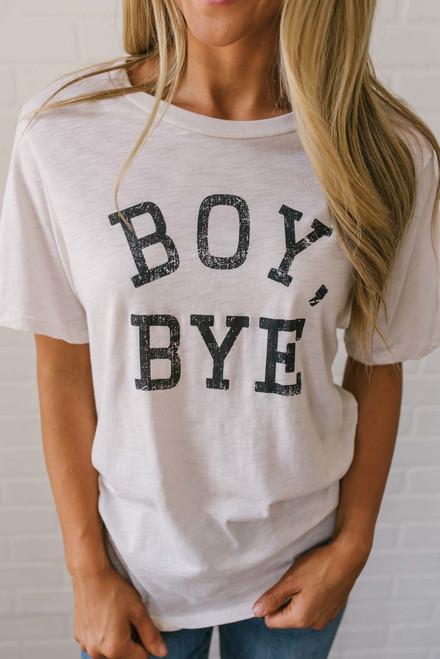 Boy Bye Graphic Tee - Cream/Black