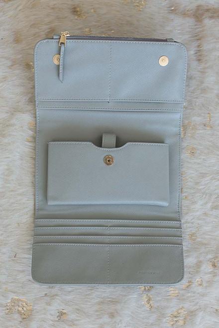 Julianne Crossbody Wallet - Grey