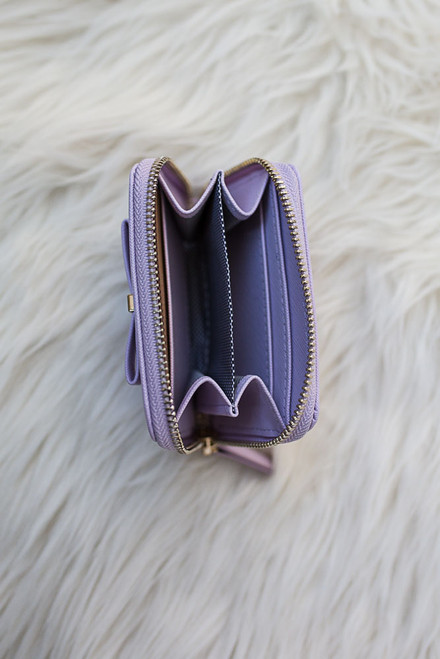 Sophie Bow Accented Coin Purse - Lilac